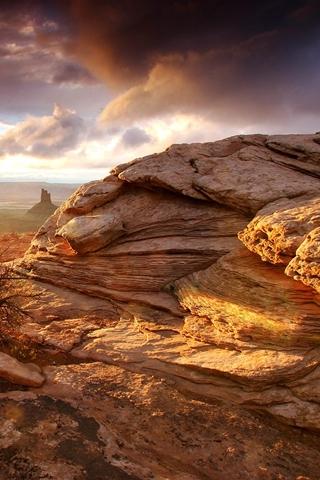 Desert Layers Of Strata In Desert
