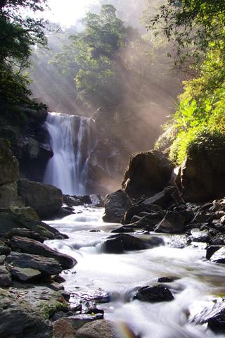 Tropical Neidong Waterfall
