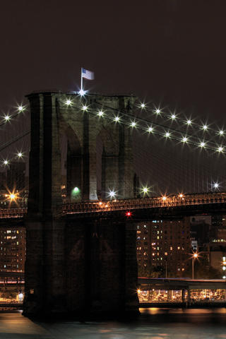 Urban Brooklyn Bridge Night