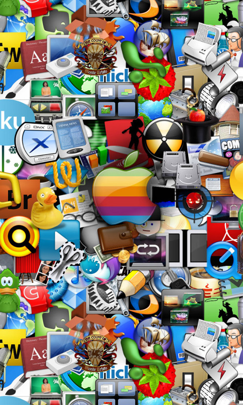 Computer Loads Of Apple Icons And Logos
