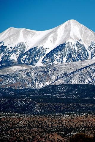 Mountain Blue And White Range