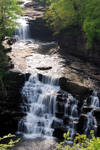 Waterfall Falls Of Clyde