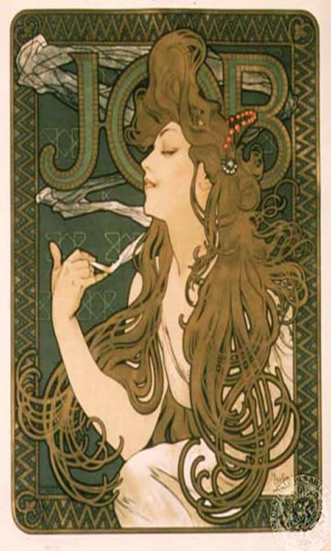 Art Mucha Job Cigarettes