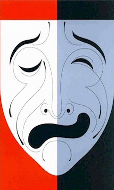 Happy Sad Mask - A theatre poster mobile wallpaper picture