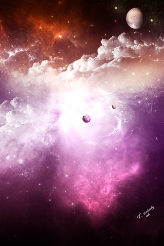 Space Purple Nebula