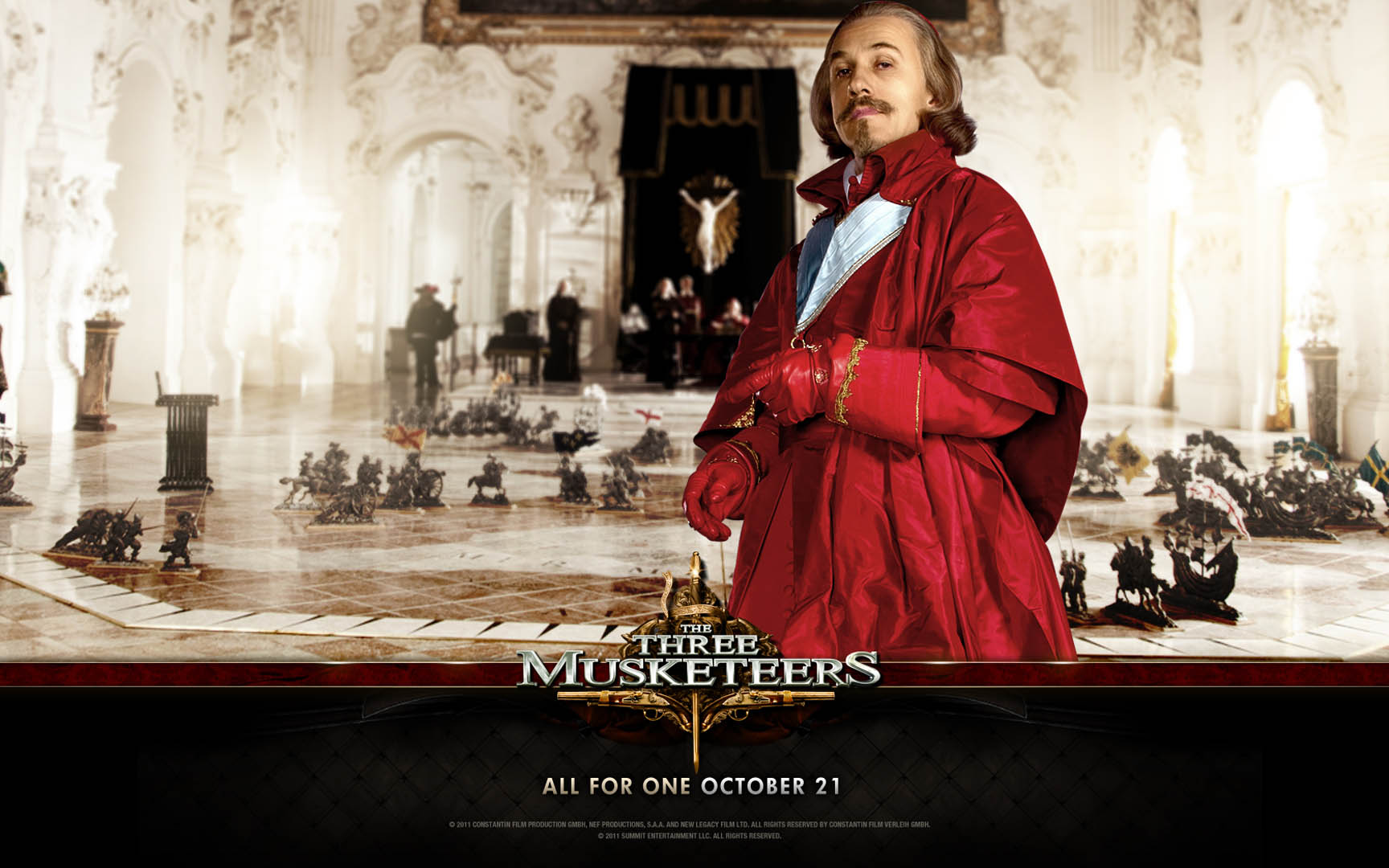 Action Christopher Waltz As Cardinal Richeleu In Three Musketeers