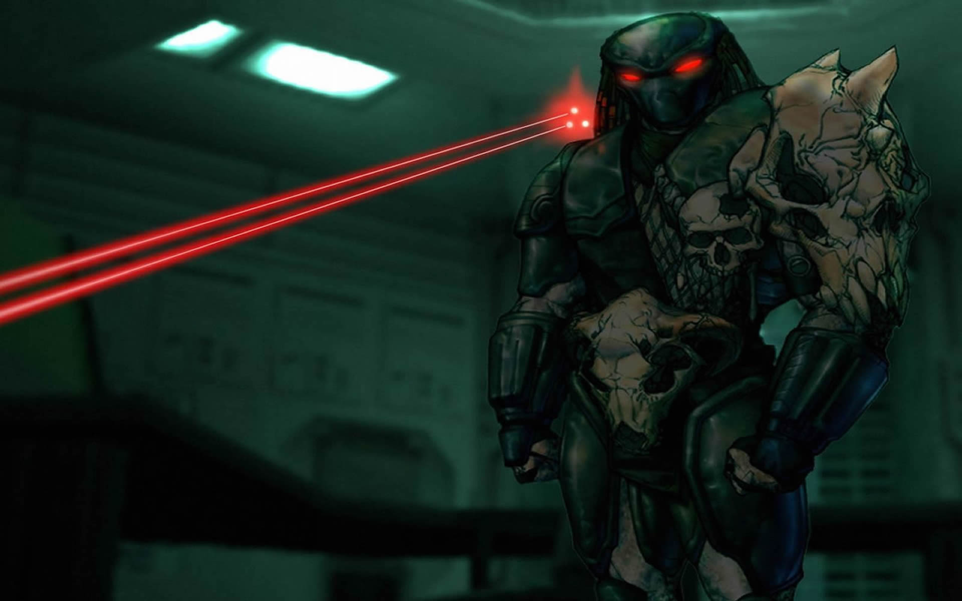 predator lazer concentrated on Wallpaper Background thumbnail
