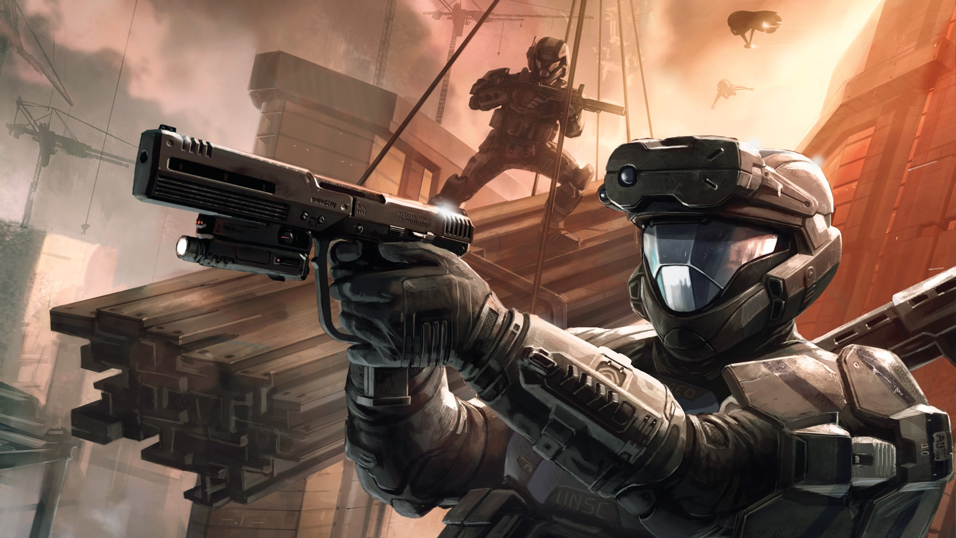 Master Chief Taking Aim Halo 3 Wallpaper