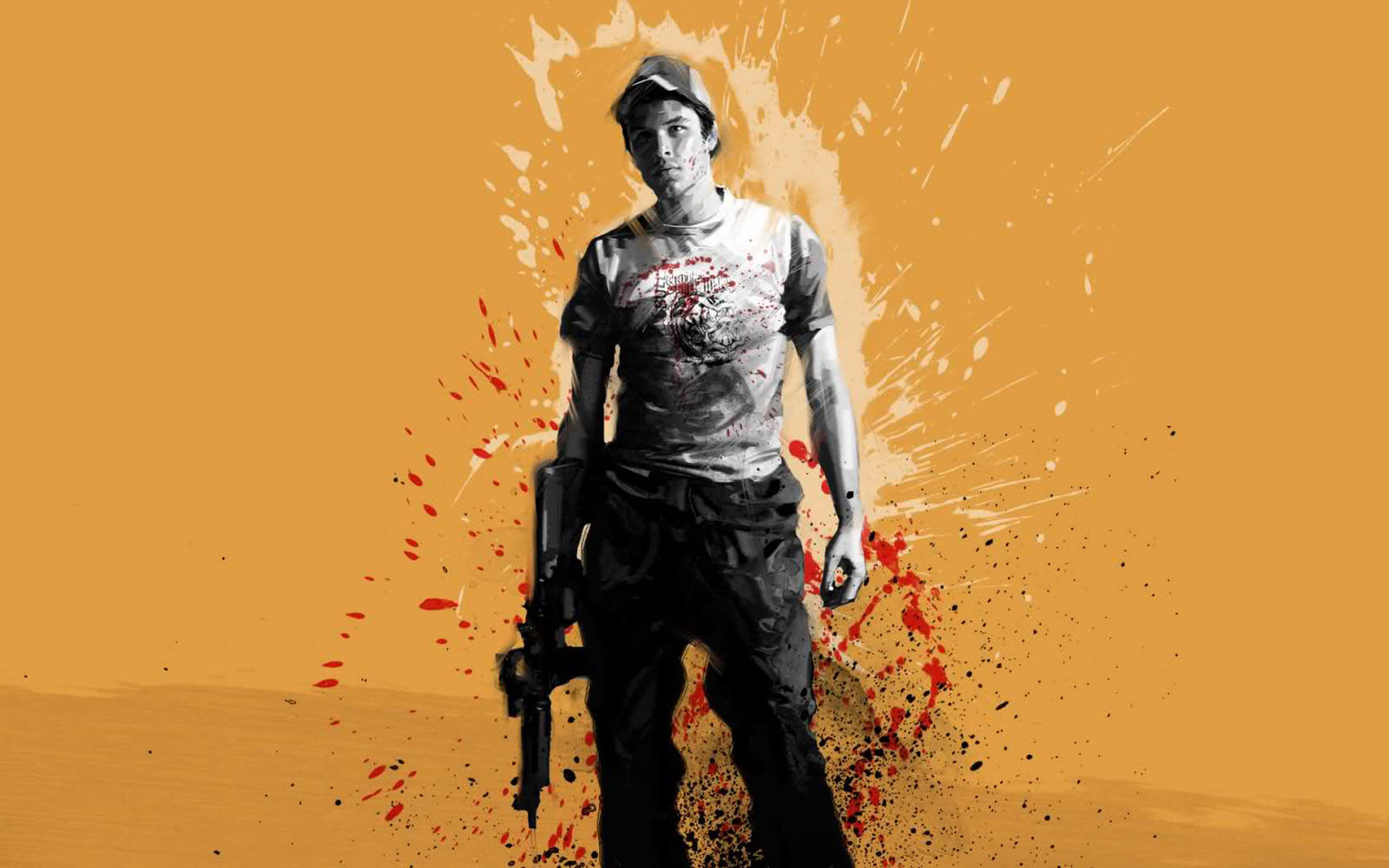 Nick With Submachinegun Left 4 Dead 2 Wallpaper