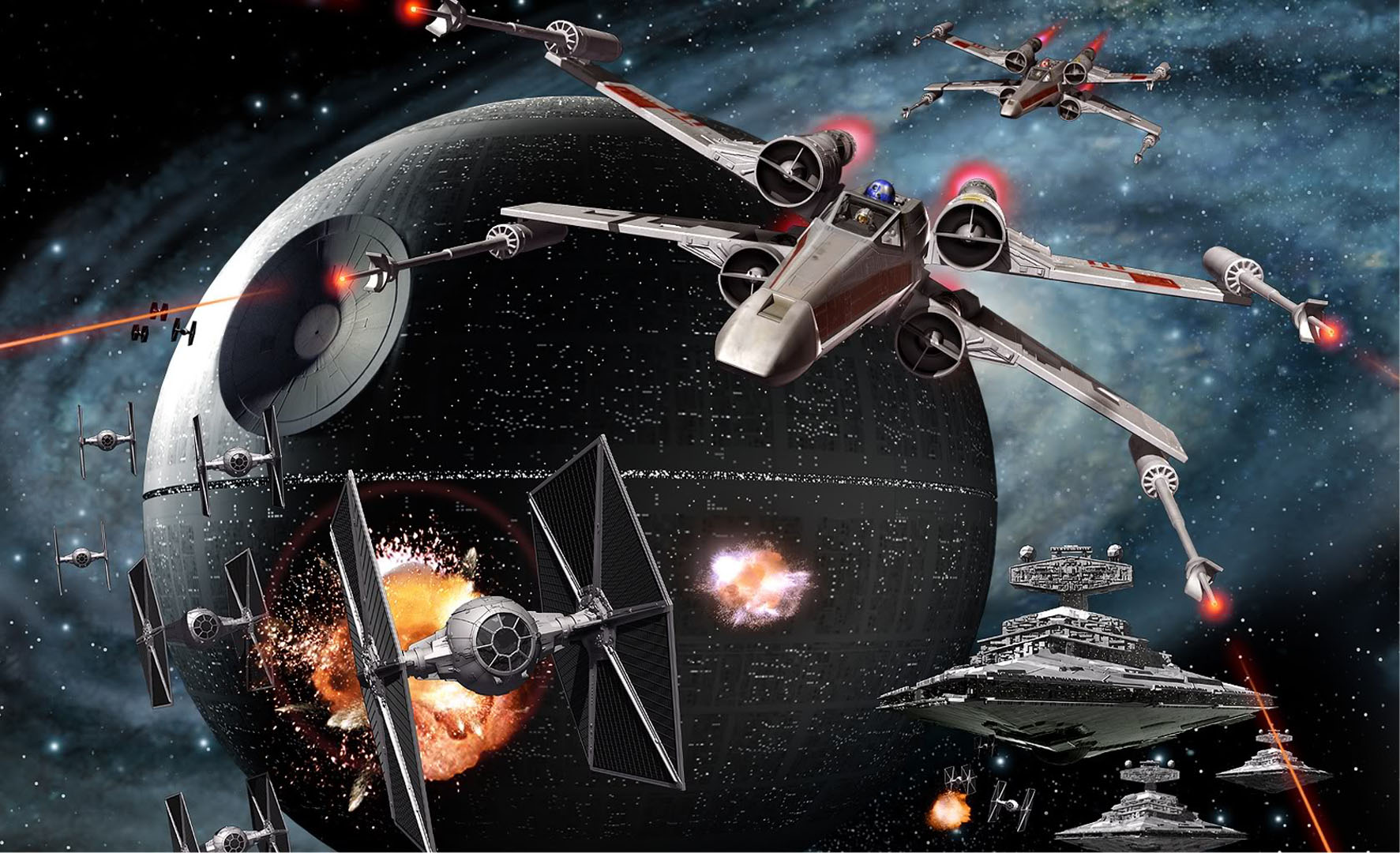 x wings and tie fighters
