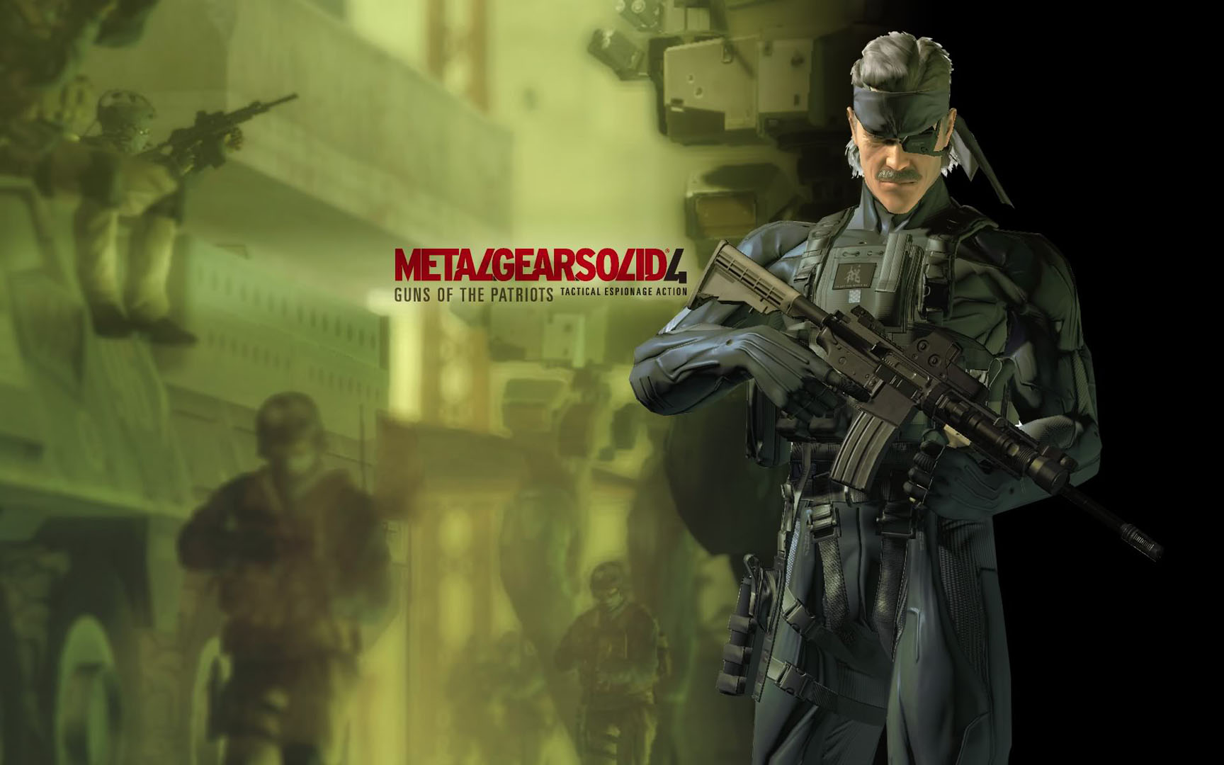 Old Guns Of The Patriots Solid Snake Metal Gear Solid 4 Wallpaper