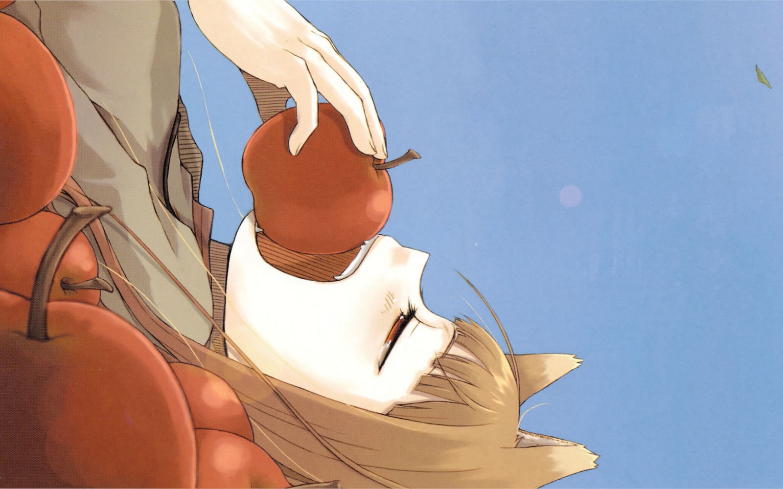 Horo Spice And Wolf Apple Crop Spice And Wolf Wallpaper