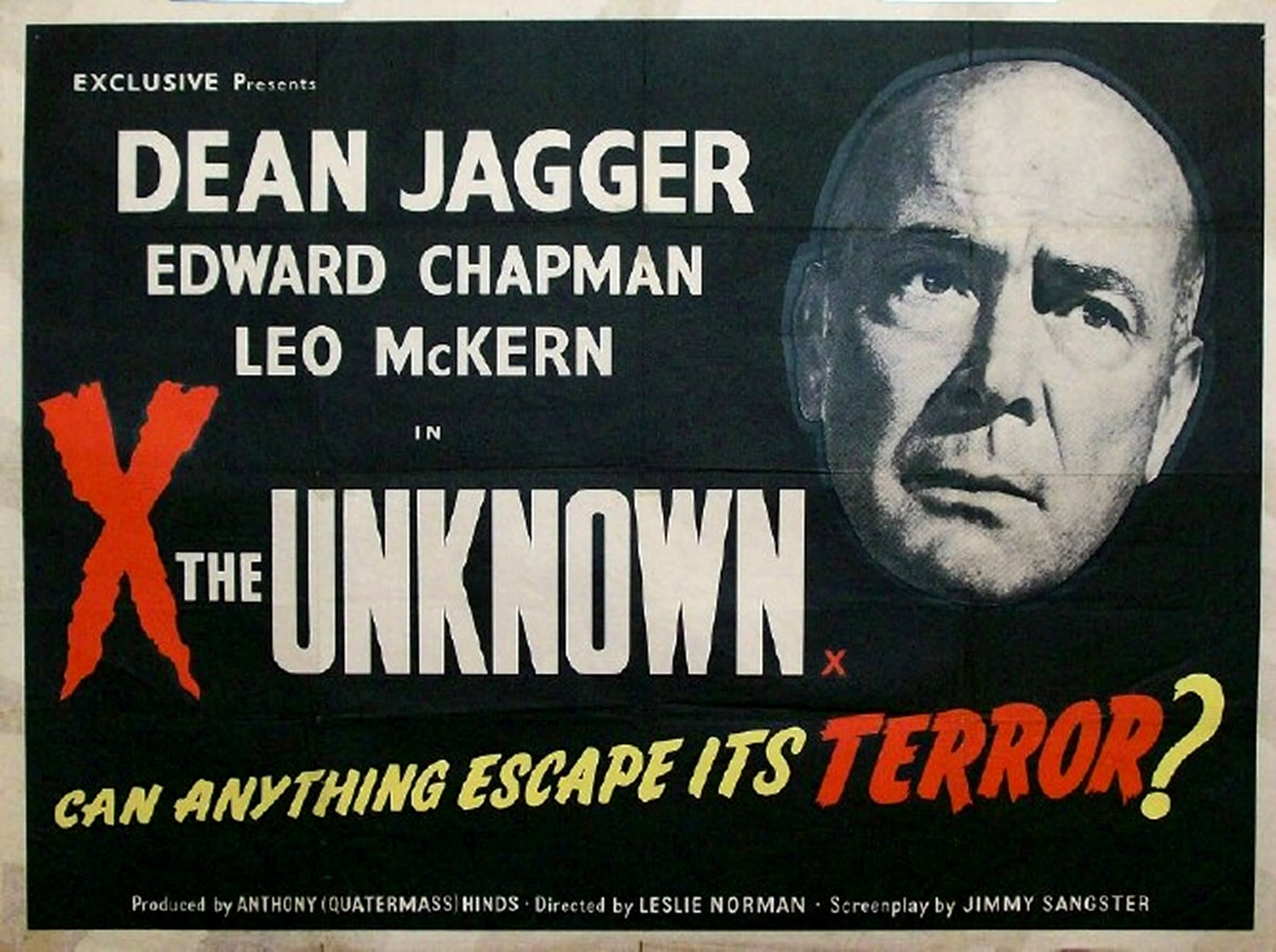 X THE UNKNOWN - Hammer Horror B Movie Posters