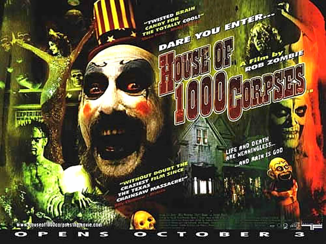 House Of 1000 Corpses Splatter And Gore B Movie Posters