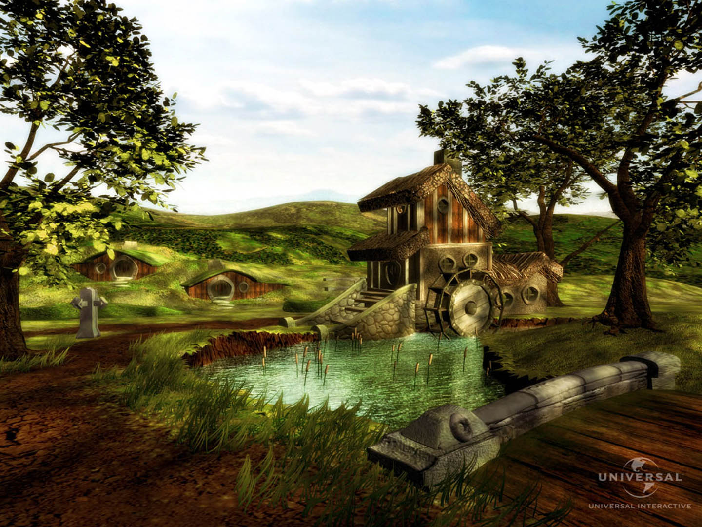 Waterwheel In The Shire Fantasy Lord Of The Rings