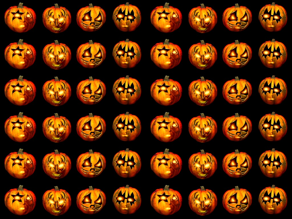 Jack O Lanterns Pattern Halloween Wallpaper